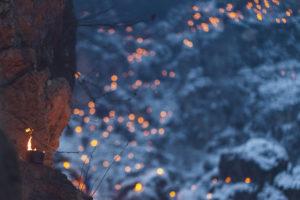 Flames in winter